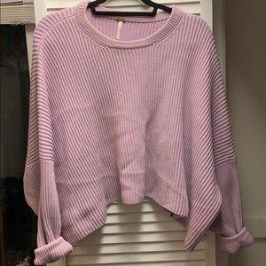 Free People pastel purple sweater